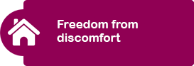 Freedom from discomfort